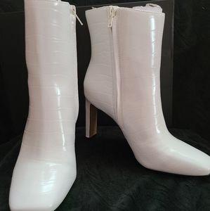 I.N.C White Croc Booties